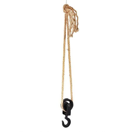 Διακοσμητικός γάντζος με τροχαλία μεταλλικός Ανθρακί 18cm