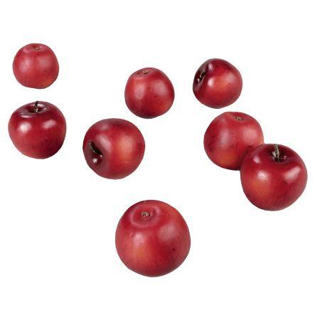 Σετ 12 τμχ Διακοσμητικά μήλα Κόκκινο 7,5 cm