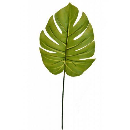 Διακοσμητικό εξωτικό φύλλο Μονστέρα Πράσινο 55cm