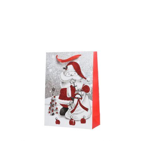 Χριστουγεννιάτικη χάρτινη τσάντα δώρου 32x26cm