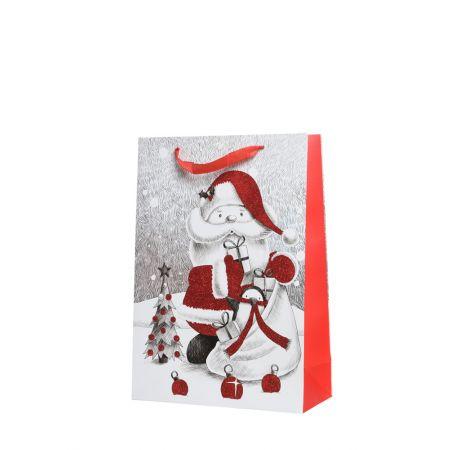 Χριστουγεννιάτικη χάρτινη τσάντα δώρου 42x30cm