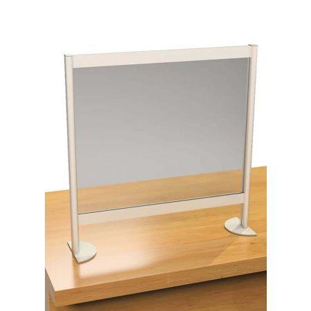 Επιτραπέζιο διαχωριστικό προστασίας Plexiglas 3mm 120x20x80cm