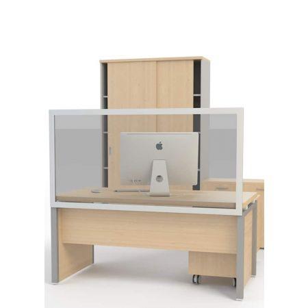 Επιτραπέζιο προστατευτικό διαχωριστικό γραφείου 160x80cm