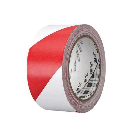3M Ταινία Βινυλίου Σήμανσης Κόκκινη/Λευκή 50mm x 33M