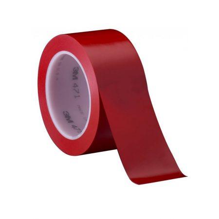 3M™ 471 Ταινία Βινυλίου Σήμανσης, Χρωματικής Διαγράμμισης, 50mm x 33M, Κόκκινη