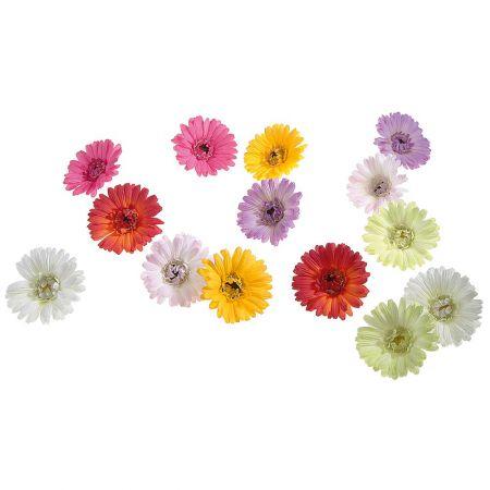 Σετ 14τχ διακοσμητικά άνθη Ζέρμπερας 5cm