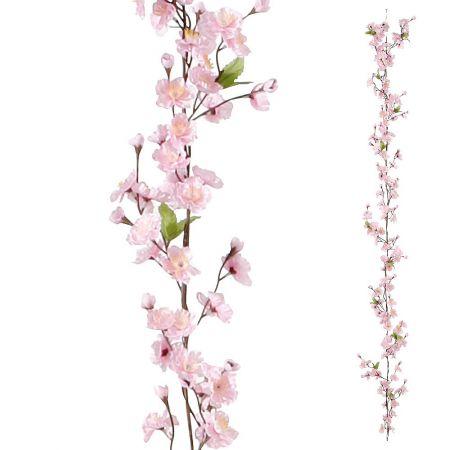 Διακοσμητική ανοιξιάτικη γιρλάντα, με φύλλα κερασιάς 180cm