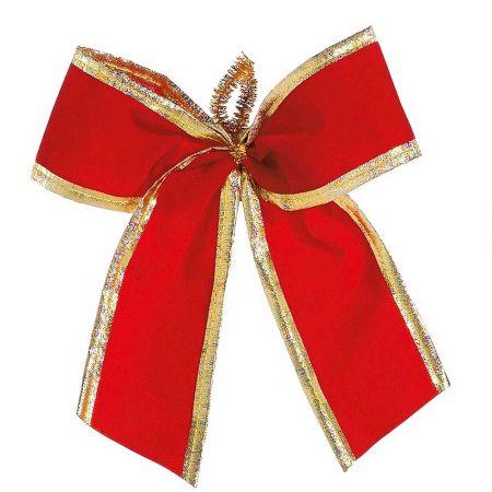 Σετ 12τμχ. Διακοσμητικοί Χριστουγεννιάτικοι φιόγκοι, 16cm