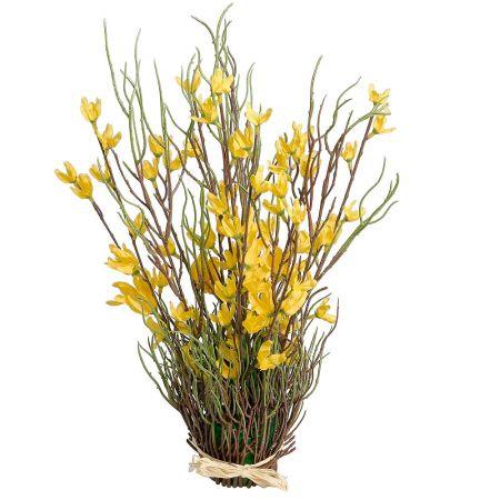 Ανθισμένη δέσμη με Κίτρινα άνθη Φορσύθιας 40cm