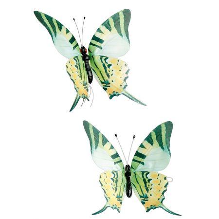 Σετ 2 τεμαχίων πεταλούδες, πράσινες 30cm