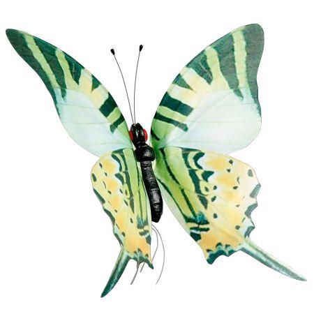 Διακοσμητική πεταλούδα πράσινη, 50cm