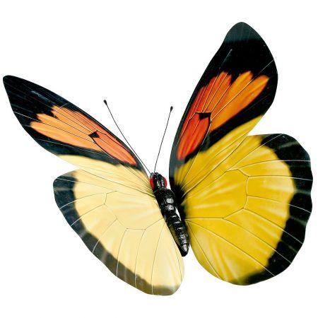 Διακοσμητική πεταλούδα κίτρινη, 80cm