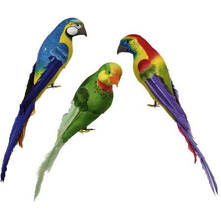 Σετ 3τχ διακοσμητικοί παπαγάλοι 40cm