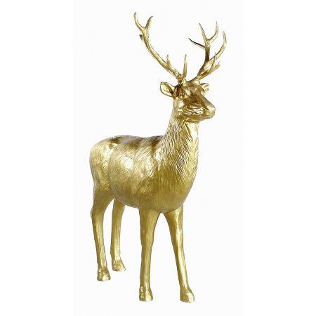 XL Διακοσμητικό ελάφι όρθιο Χρυσό 185x40x231cm