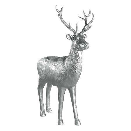 XL Διακοσμητικό ελάφι όρθιο Ασημί 185x40x231cm