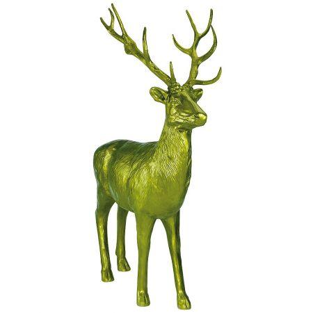 XL Διακοσμητικό ελάφι όρθιο Πράσινο 185x40x231cm