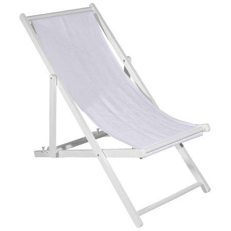 Διακοσμητική καρέκλα παραλίας για βιτρίνα Λευκή 110x56x70cm