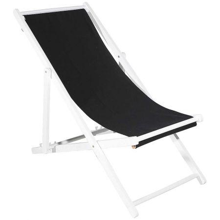 Διακοσμητική καρέκλα παραλίας για βιτρίνα Μαύρη 110x56x70cm