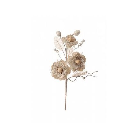 Διακοσμητικό μπουκέτο με λουλούδια 21cm