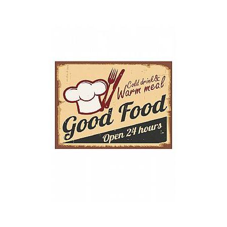 Διακοσμητικός πίνακας Good Food 30x40x2cm
