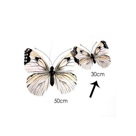 Διακοσμητική πεταλούδα Λευκή 30cm
