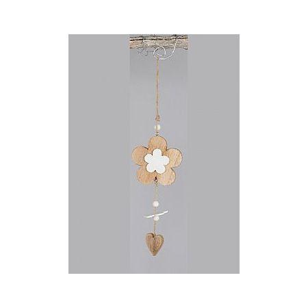 Διακοσμητικό κρεμαστό στολίδι Λουλούδι-Καρδιά 35cm
