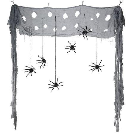 Διακοσμητική κουρτίνα με αράχνες 150cm