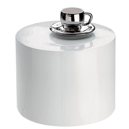 Διακοσμητικό Τραπεζάκι Βιτρίνας Fiberglass Λευκό 25x33cm
