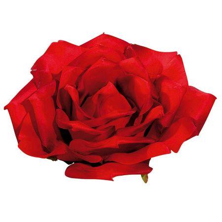 XXL διακοσμητικό άνθος τριαντάφυλλου Κόκκινο 40cm
