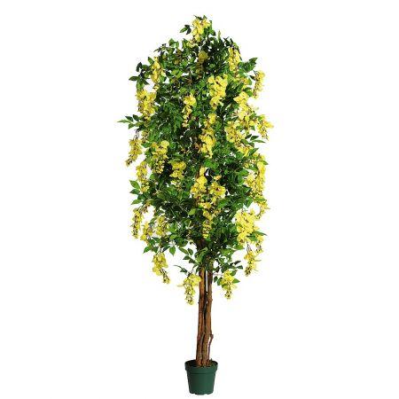 Τεχνητό δέντρο Λαβούρνο με κίτρινα άνθη σε γλάστρα 180cm
