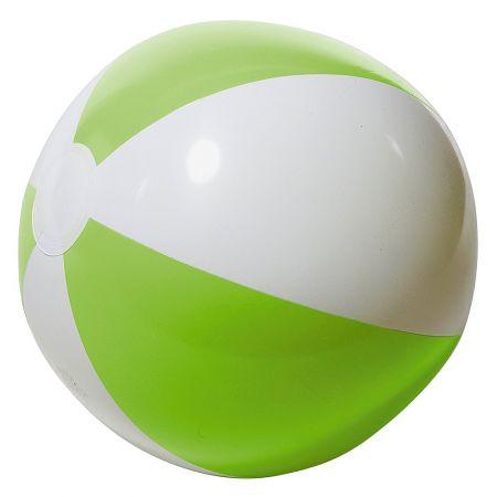 Μπάλα παραλίας φουσκωτή Πράσινο - Λευκό 25cm