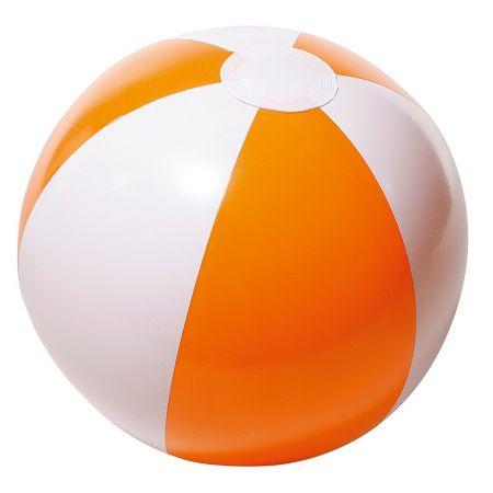 Μπάλα παραλίας φουσκωτή Πορτοκαλί - Λευκό 25cm