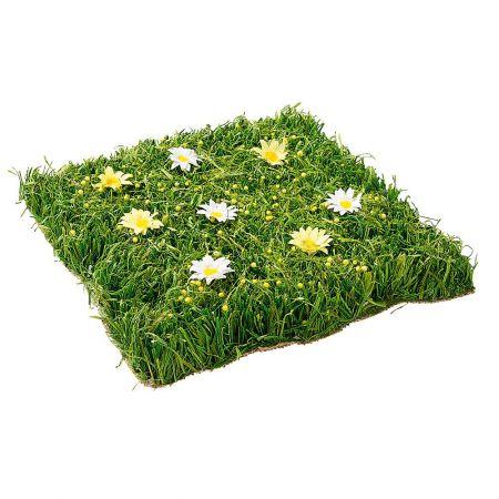 Διακοσμητικό πλακάκι γρασίδι με λουλούδια 30x30cm