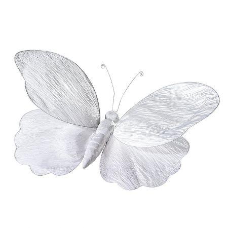 Διακοσμητική πεταλούδα λευκή, 100cm