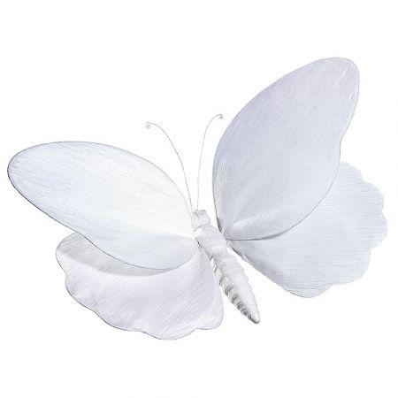 XL Διακοσμητική πεταλούδα λευκή , 140cm