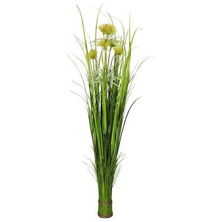 Διακοσμητική δέσμη με γρασίδι και λουλούδια 150cm
