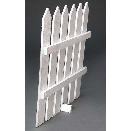 Διακοσμητικός ξύλινος φράχτης Λευκός 65x60cm