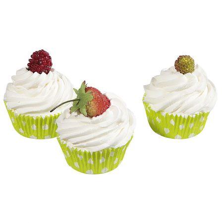 HQ Σετ 3τχ Διακοσμητικά Cupcakes Λαχανί 8cm