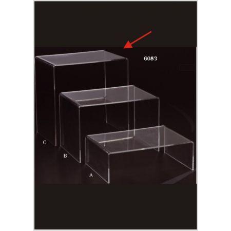 Τραπεζάκι Bιτρίνας Plexiglass Π 60x60x40cm