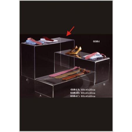 Τραπεζάκι Βιτρίνας-Π Plexiglass 60x40x100cm