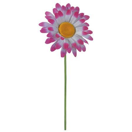 XL Διακοσμητική μαργαρίτα Λευκή - Ροζ 120x55cm