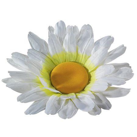 XL Διακοσμητικό άνθος μαργαρίτας Λευκό 83cm
