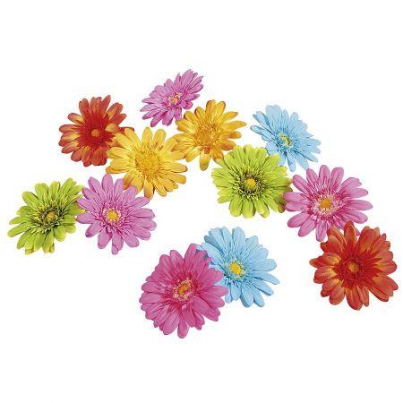 Σετ 24τχ διακοσμητικά άνθη Ζέρμπερας, 11cm