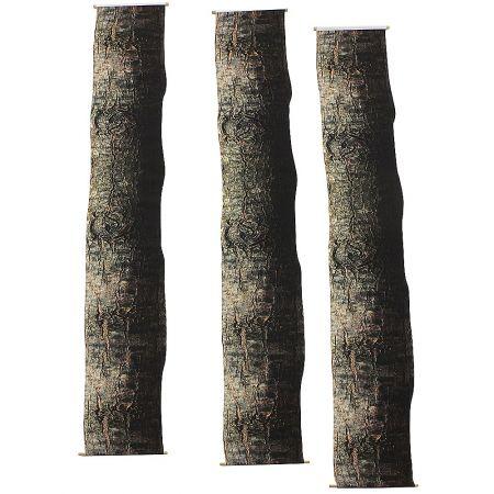 Σετ 3τμχ πανό-ύφασμα με εκτύπωση Κορμό δέντρου, 25cm