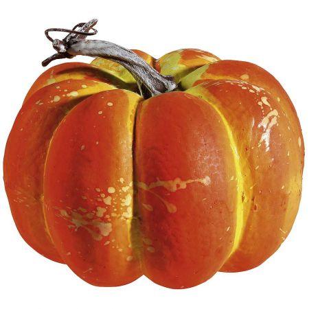 Διακοσμητική κολοκύθα Πορτοκαλί 15cm