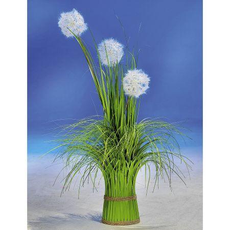 Διακοσμητικό λουλούδι dandelion με γρασίδι Πράσινο 90cm