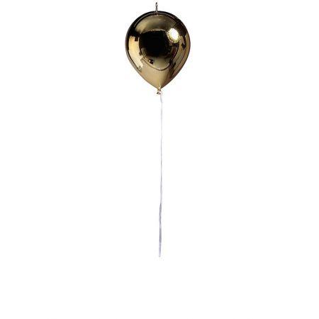 Διακοσμητικό πλαστικό μπαλόνι ασημί μεταλλικό , 20cm