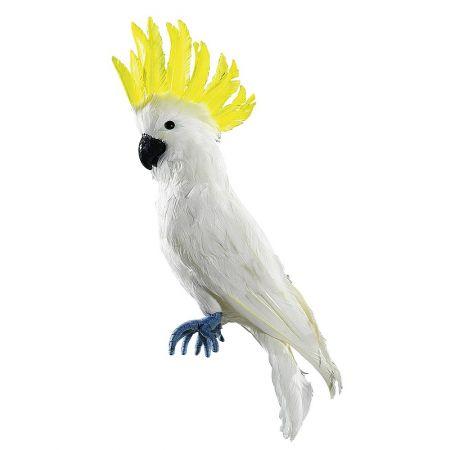 Διακοσμητικός παπαγάλος Κακατούα Λευκό - Κίτρινο 55cm