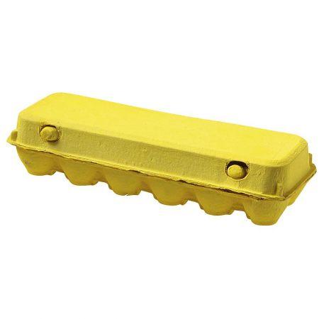 Διακοσμητική αυγοθήκη για 12 αυγά κίτρινο, 30x10 cm