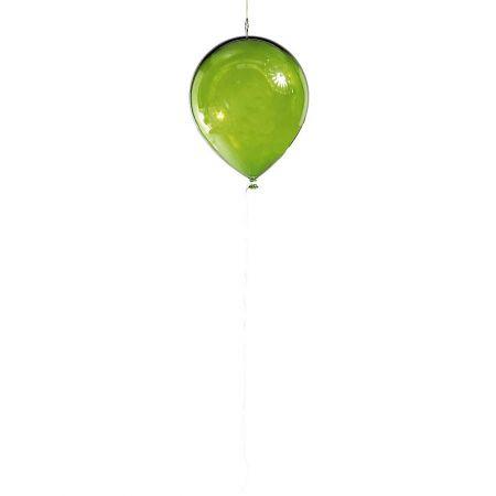 Διακοσμητικό πλαστικό διάφανο μπαλόνι Πράσινο 28cm